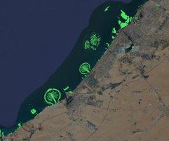 New islands off the coast of Dubai.