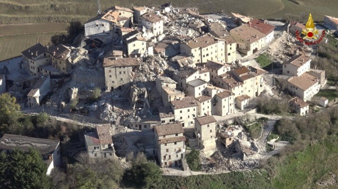 A geologist in the Italian earthquake